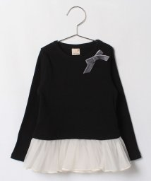 petit main/裾チュールテレコTシャツ/002046979