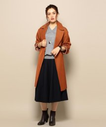 J.PRESS LADIES(LARGE SIZE)/Vis/Cツイル テロンチコート/002056665