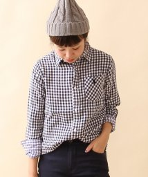 coen/ダブルガーゼギンガムチェックシャツ/002046850