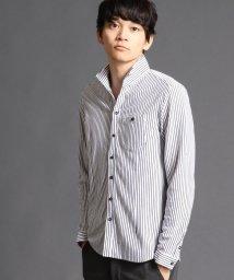 NICOLE CLUB FOR MEN/ストライプカットシャツ/002058683