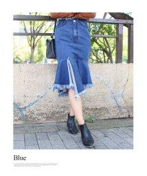 MODE ROBE/マーメイドデニムフリンジスカート/002057819