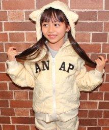ANAP KIDS/ハート型押し起毛パーカー/002057885