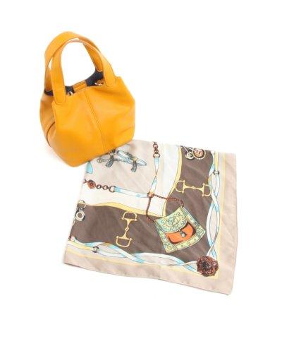 【Viaggio Blu(ビアッジョブルー)】【WEB限定カラーあり】スカーフ付きミニトートバッグ