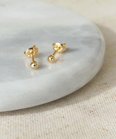 【TAKE-UP(テイクアップ)】[セカンドピアス] K18ミラーボールピアス
