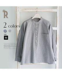 REAL CUBE/CLOCHE ワイドシルエットオーガニックコットンシャツ/002060953