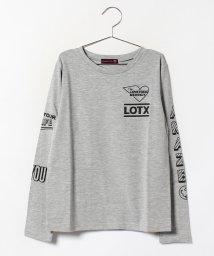 Lovetoxic/配色ロゴプリント入りTシャツ/002064482