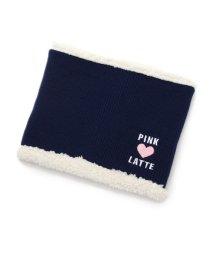 PINK-latte/内ボアハートネックウォーマー/002074672