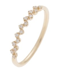 COCOSHNIK /ダイヤモンド 爪留め ハーフエタニティリング/002075571