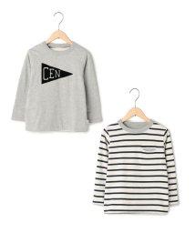 coen/【coen kids】リバーシブルポケットロングTシャツ/002073729