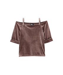 JILL by JILLSTUART/VELOUR OFFSHOUK TOPS/002077940