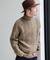 green label relaxing/BC ◎HAMI/LAMB ARAN タートルネック ニット/002078490