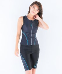 VacaSta Swimwear/【Reebok】無地カバーマジックフルジップタンキニ/002066358