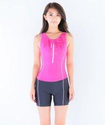 VacaSta Swimwear/【Reebok】無地オールインワンハーフジップタンキニ/002066359