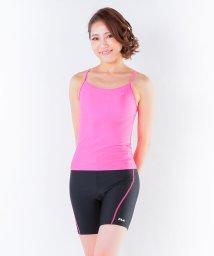 VacaSta Swimwear/【FILA】マルチフィットネスインナーキャミ付きフルジップタンキニ3点セット/002071111