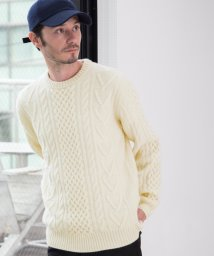 green label relaxing/BC ◎HAMI/LAMB ARAN クルーネック ニット/002079914