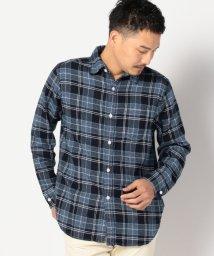 SHIPS MEN/SA: インディゴ ダブルニードル レギュラーカラー ネルシャツ/002080000