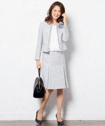 NIJYUSANKU/【WEB先行】ボーダーカラミツイード スカート/002080093