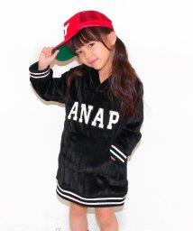 ANAP KIDS/エンボスフリース ストライプワンピース/002070893