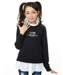 ALGY/フリル衿シャツレイヤードトレーナー/002076936