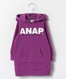 ANAP KIDS/NETオリジナル シンプルロゴフーディーワンピース/002075748