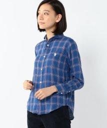 coen/ダブルガーゼブロックチェックシャツ/002115022