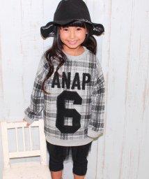 ANAP KIDS/ボアロゴチェックトップス/002081099