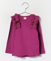 petit main/肩フリルつきTシャツ/002080656