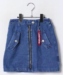 Lovetoxic/フロントジップデザイン台形スカート/002080745
