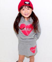 ANAP KIDS/ハートシリコンプリント スカート/002096023