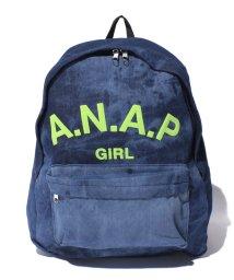ANAP GiRL/シンプルロゴデニムリュック/002113979