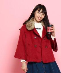 PINK-latte/ファー衿メルトンPコート/002122790