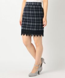 MISCH MASCH/裾レースチェックタイトスカート/001999941