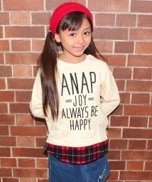 ANAP KIDS/メッセージプリントシャツ付風トレーナー/002120196