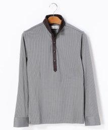 MONSIEUR NICOLE/スタンドカラー長袖ポロシャツ/002125669
