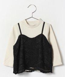 petit main/レースキャミ付ロングTシャツ/002119530