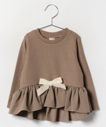 petit main/グログランリボンつきペプラムTシャツ/002119531
