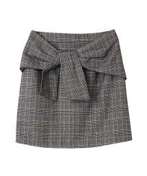 31 Sons de mode/リボン付チェック台形スカート/002125404