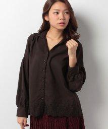 axes femme/バイカラー刺繍入りシャツ/002125065