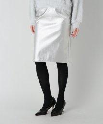 Spick & Span/フェイクレザー タイトスカート/002132541
