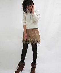 31 Sons de mode/裾刺繍ショートパンツ/002132149