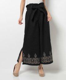 axes femme/裾刺繍入りガウチョパンツ/002125506