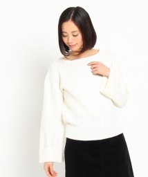 Couture Brooch/ヘリンボンニットトップス/002136651