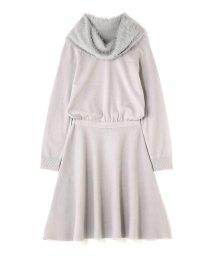 PROPORTION BODY DRESSING/フェザーネックニットワンピース/002143026