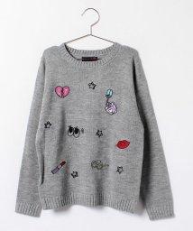 Lovetoxic/モチーフ刺繍ニットプルオーバー/002141275