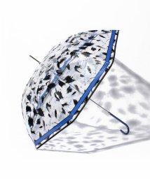 LANVIN en Bleu(umbrella)/婦人ビニール筆タッチ柄長傘/LB0002108