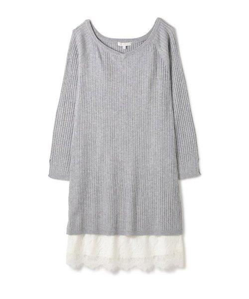 PROPORTION BODY DRESSING(プロポーション ボディドレッシング)/ロングリブレースワンピース/1217140004