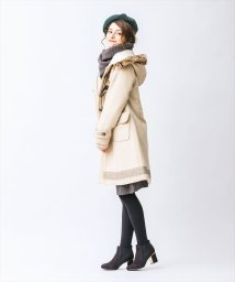 axes femme/裏キルトロングダッフルコート/002141908