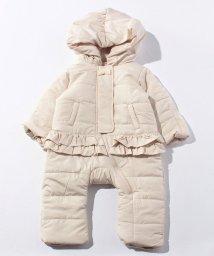 petit main/裾フリル中綿シャンプスーツ/002147631