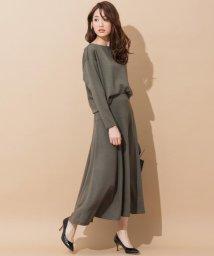 NIJYUSANKU/【セットアップ対応】ウールストレッチポンチ スカート/500002941