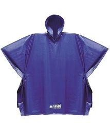 LOGOS/ロゴス/ジュニア PVCポンチョ ブルー/500003834